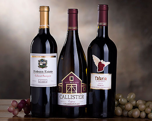 Cabernet, Merlot and Chardonnay Gift Basket - Item No: 037