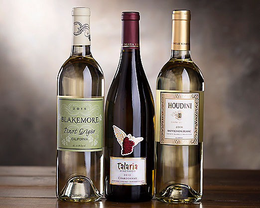 California White Wine Assortment Gift Basket - Item No: 038