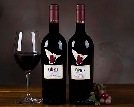 Talaria Sonoma Red Wine Duet Gift Basket - Item No: 044