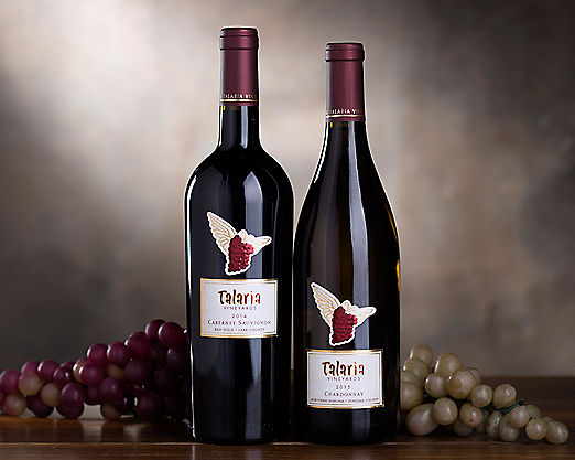 Talaria Vineyards Red and White Sonoma Duet Gift Basket - Item No: 045