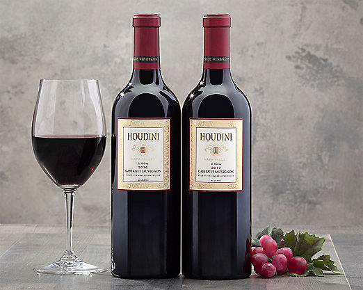 2 Bottles Houdini Napa Valley Cabernet Sauvignon - STANDARD SHIPPING INCLUDED - Item No: 076