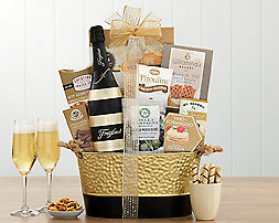 Ghirardelli Cocoa, Tea and CookiesGift Basket - Item No: 152
