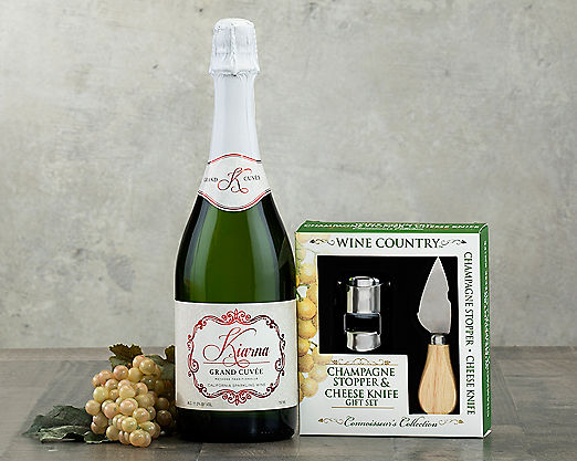Kiarna Sparkling Wine Gift Set Gift Basket - Item No: 164