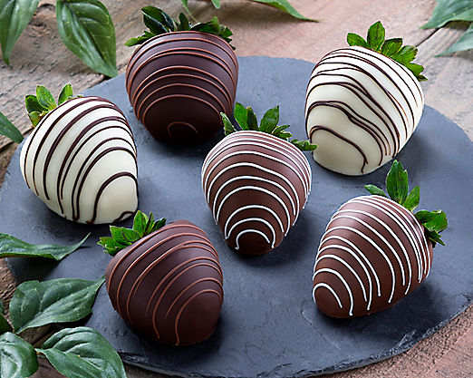 Milk Chocolate Strawberries with White Chocolate - Item No: 180