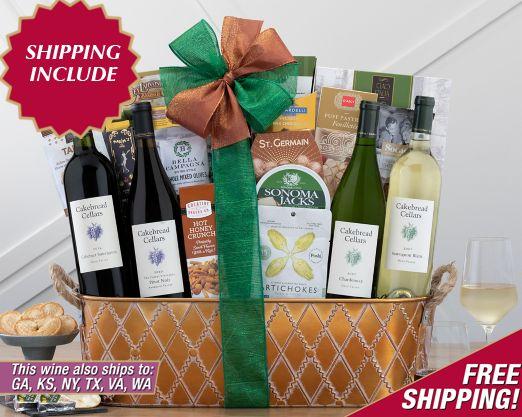 Steeplechase Vineyards Quartet Gift Basket - Item No: 077