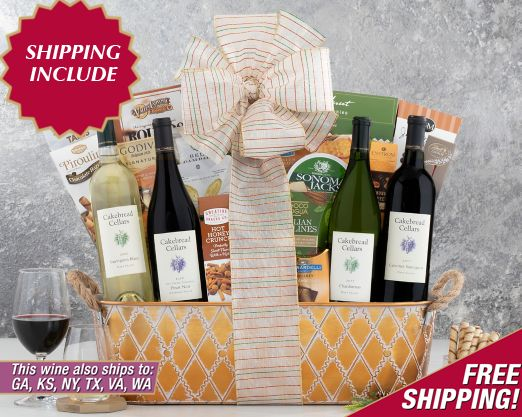 Rock Falls Vineyards Red and White Duet Gift Basket - Item No: 121