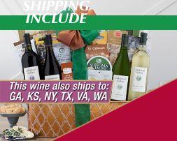 Cliffside White Wine Trio Gift Basket - Item No: 082