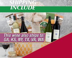 California Cabernet and Chardonnay Wine Rack Gift Basket - Item No: 415