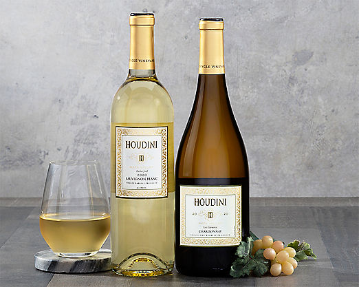 Houdini Napa Valley Sauvignon Blanc and Chardonnay - STANDARD SHIPPING INCLUDED - Item No: 285