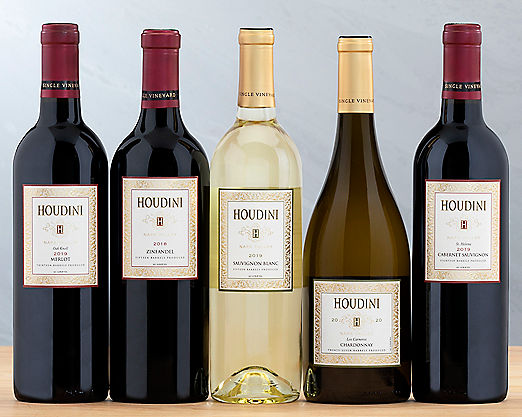 Houdini Napa Valley Red and White Wine Collection - STANDARD SHIPPING INCLUDED - Item No: 287