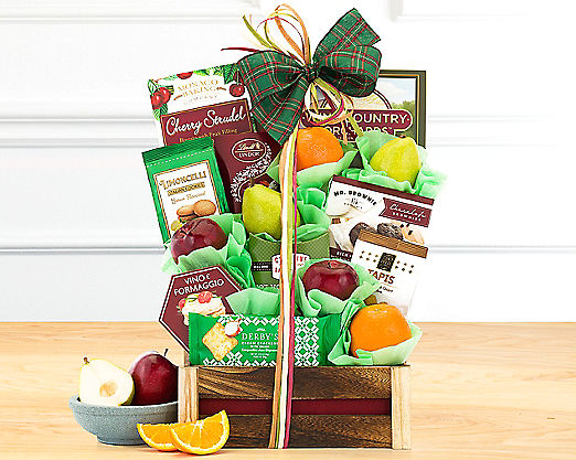Wine Country Fruit and Favorites Gift Basket - Item No: 508
