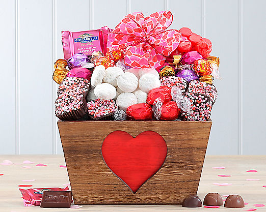 Valentine Cookie and Godiva Truffle Assortment Gift Basket - Item No: 589