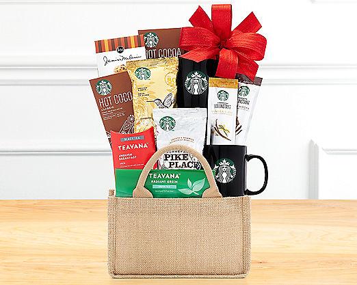 Starbucks and Tazo Eye Opener Gift Basket - Item No: 613
