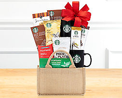 Starbucks and Tazo Eye Opener Gift Basket - Item No: 613