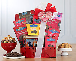 Ghirardelli Valentine Gift Basket - Item No: 681