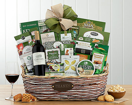 Edenbrook Cabernet Thank You Assortment Gift Basket - Item No: 709