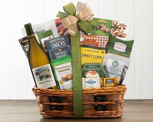 Personalized gift baskets consist of items from our in-store selection of wines, spirits, craft beer and gourmet foods.