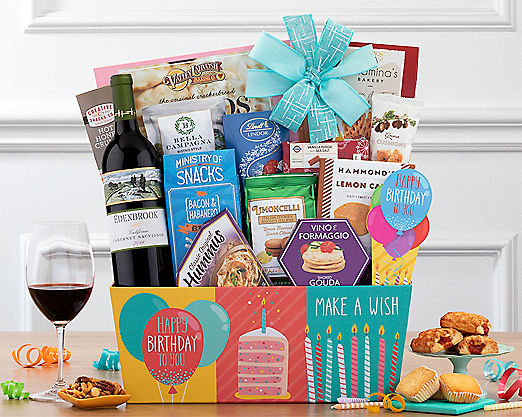 Rock Falls Vineyards Cabernet Birthday Collection Gift Basket - Item No: 725