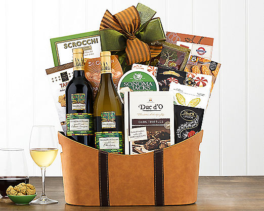 Rock Falls Vineyards California Assortment Gift Basket - Item No: 735