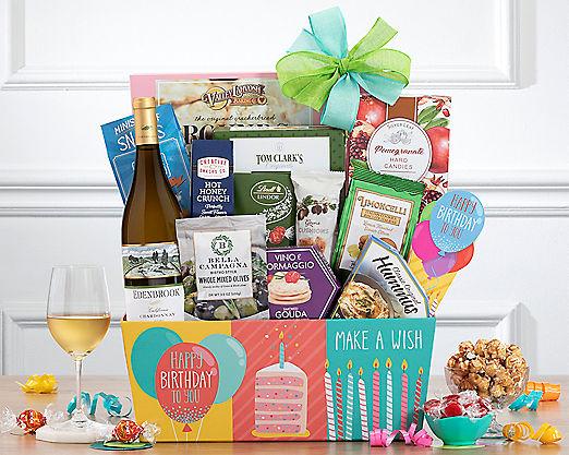 Rock Falls Chardonnay Birthday Collection Gift Basket - Item No: 746