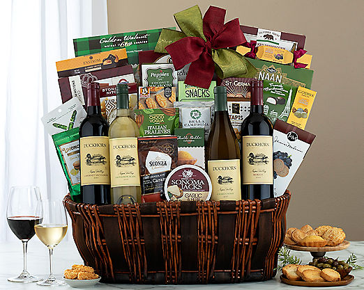 Duckhorn Vineyard Napa Valley Exclusive Gift Basket - Item No: 753
