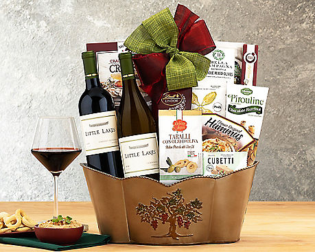 Little Lakes Cellars Double Delight Wine Basket