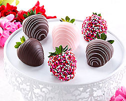 Valentine's Dipped Strawberries (half dozen) - Item No: 778