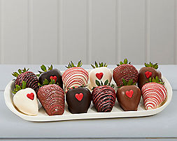 Valentine's Dipped Strawberries (full dozen) - Item No: 780