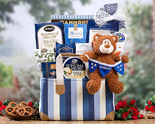 Congratulations Bear Gift Basket - Item No: 804C