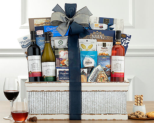Alfasi Winery Kosher Trio Gift Basket - Item No: 812