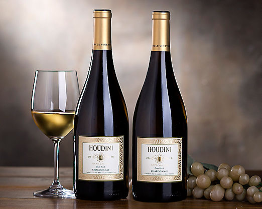 2 Bottles Houdini Napa Valley Chardonnay - STANDARD SHIPPING INCLUDED - Item No: 820