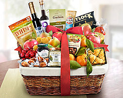 Ultimate Fresh Fruit, Sweet & Savory Selection Gift Basket