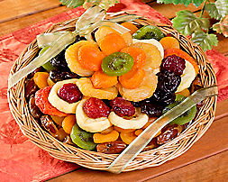 Dried Fruit Flower Gift Basket - Item No: 842