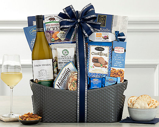 Alfasi Chardonnay Kosher Collection Gift Basket - Item No: 847