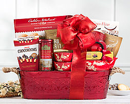 Seasonal Cocoa, Tea and SweetsGift Basket - Item No: 853