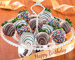 Birthday Dipped Strawberries (full dozen) - Item No: 918
