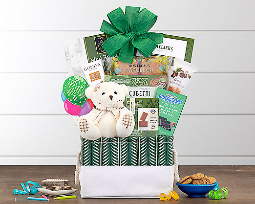 Bear Hugs - Happy BirthdayGift Basket - Item No: 989H
