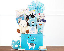 Oh Baby - Blue Gift Basket - Item No: 997