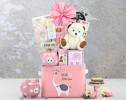 Oh Baby - Pink Gift Basket - Item No: 998