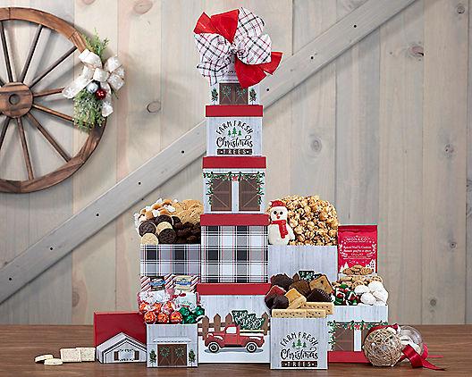 Nostalgic Holiday Tin Tower 333