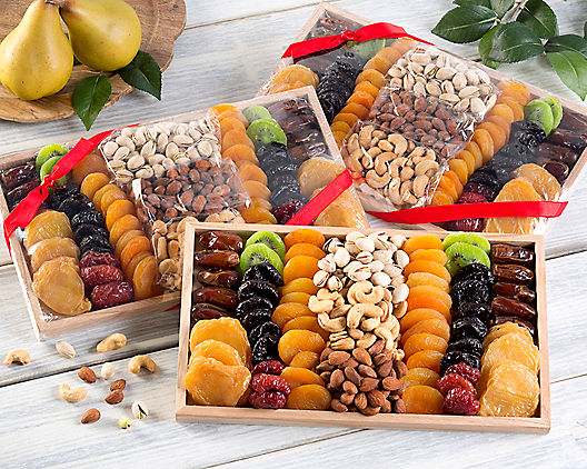 Gourmet Dried Fruit & Nut Collection - 3 Pack