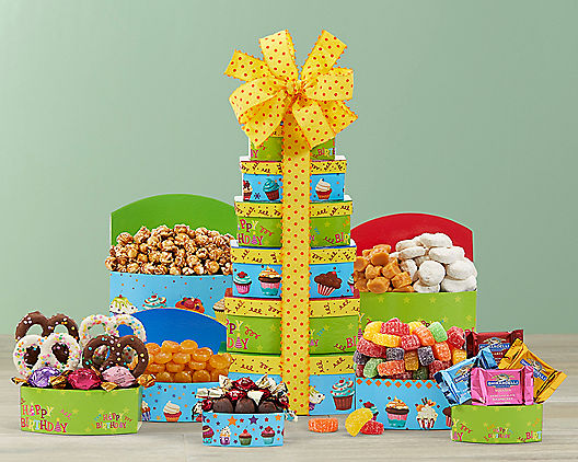 Birthday Tower from Wine Country Gift Baskets Product Image