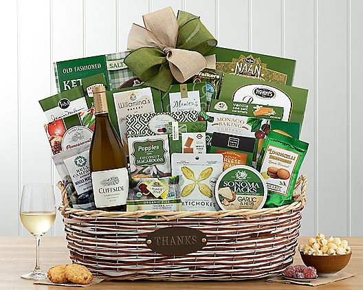 Crossridge Peak Chardonnay Thank You Assortment from Wine Country Gift Baskets Product Image