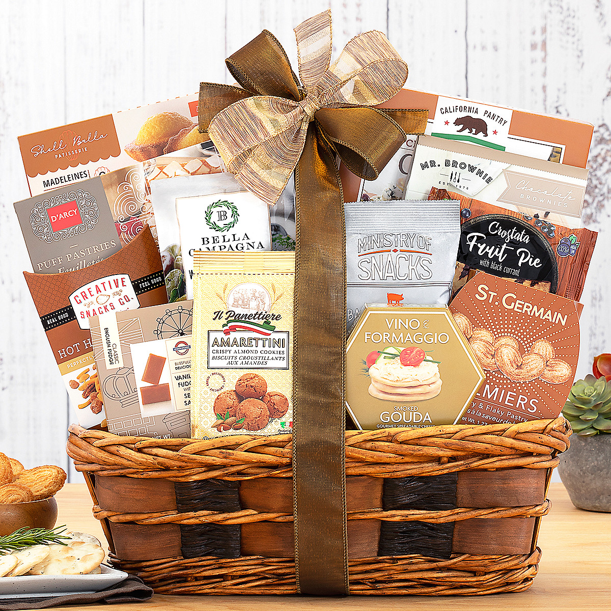 Buy holiday gift baskets with free shipping - Bon Appetit Free Shipping Gourmet Gift Basket