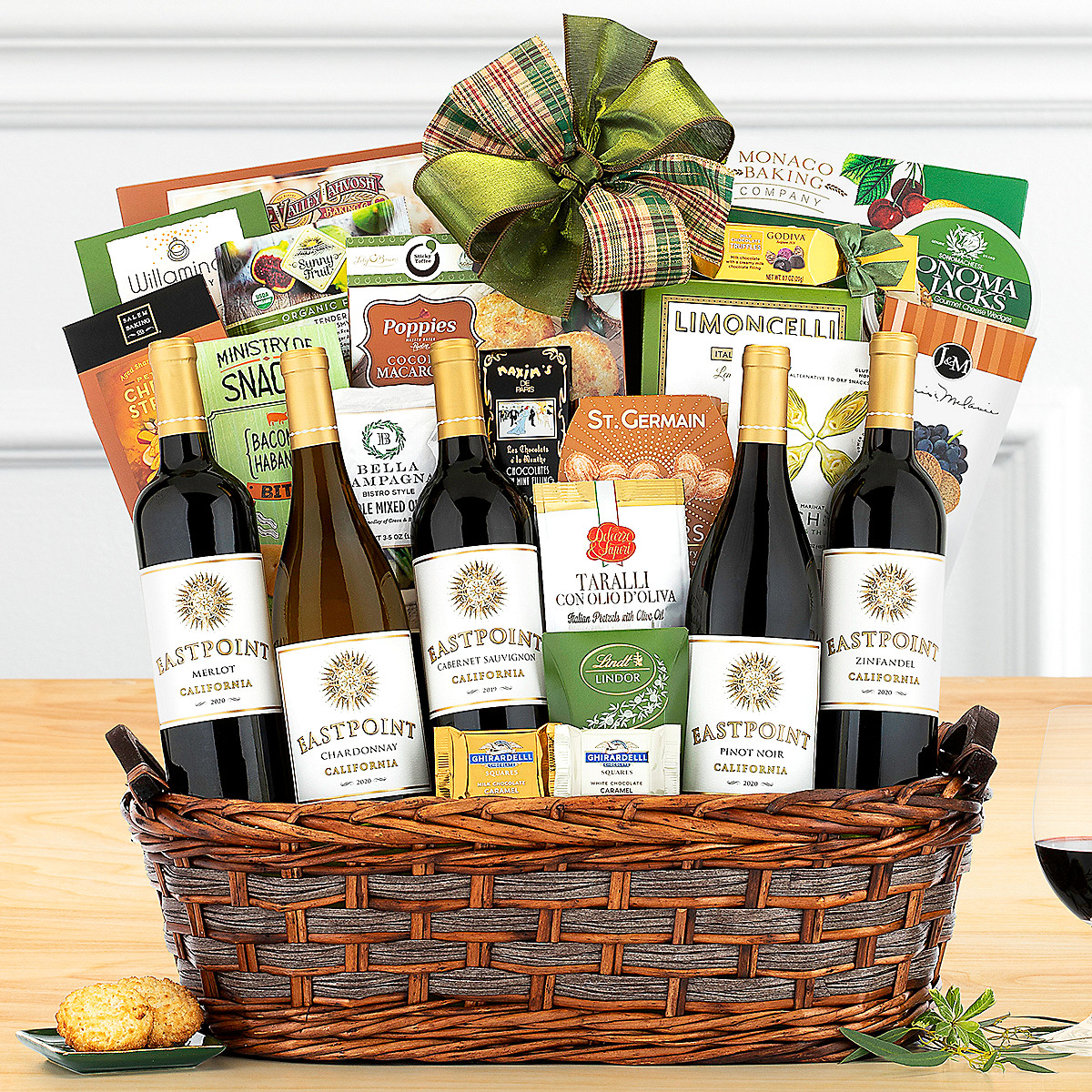 Buy holiday gift baskets with free shipping - Eastpoint Cellars California Free Shipping Wine Gift Baskets
