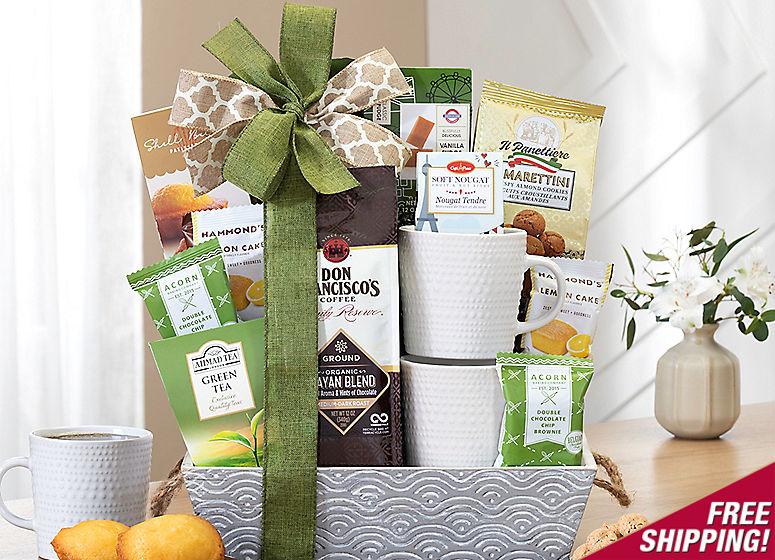 Coffee, Tea and Cocoa Assortment Gift Basket