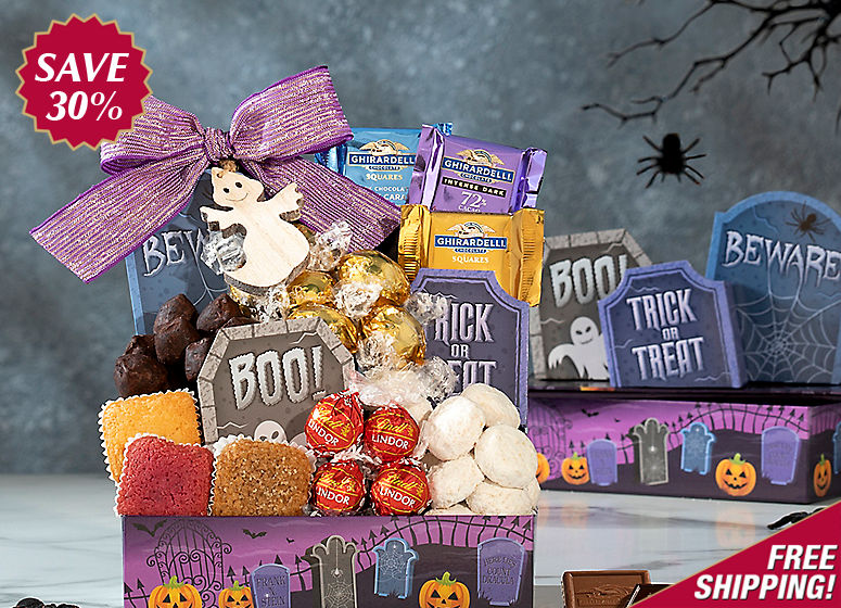 Trick or Treat Tower of Sweets