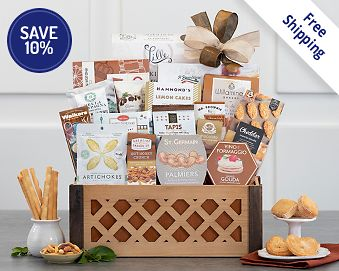 Sweet and Savory Gift Crate Gift Basket Free Shipping 10% Save Original Price is $99.95