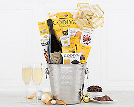 Suggestion - Dom Perignon and Godiva Chocolate Gift Basket