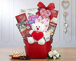 Suggestion - Valentine Sloth and Sweets Gift Basket